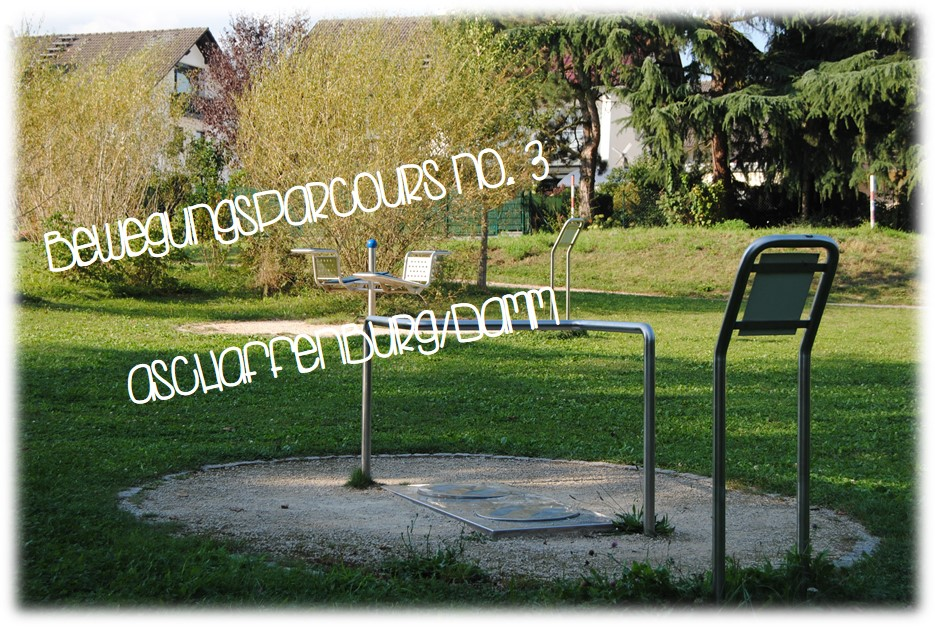 Bewegungsparcours No. III – Spielplatz für aktive Erwachsene in Aschaffenburg/Damm